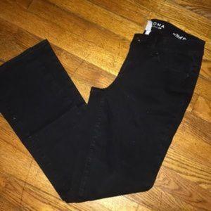Sonoma Straight Leg Black Jeans